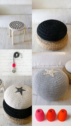 I like what they have done with this FROSTA stool from IKEA :)