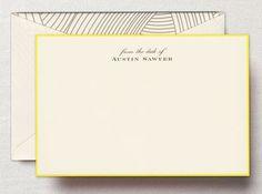 Lido Ecru Bordered Correspondence Cards
