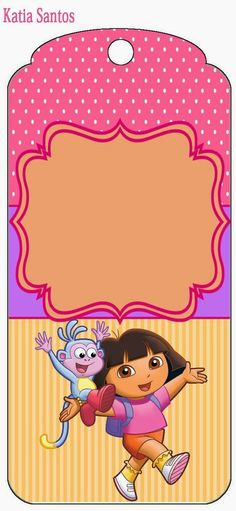 Dora the Explorer Free Printable Candy Bar Labels and Images. Dora Diego, Oh My Fiesta, Candy Bar Labels, Class Decoration, Dora The Explorer, Printable Birthday Invitations, 3rd Birthday, Birthday Ideas, Birthday Parties