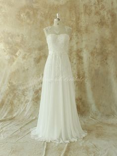 Hey, I found this really awesome Etsy listing at https://www.etsy.com/listing/182632398/ivory-chiffon-lace-wedding-dress