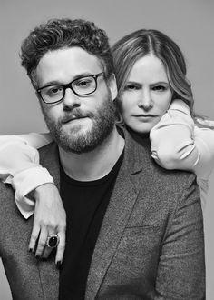 Jennifer Jason Leigh and Seth Rogen