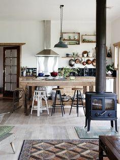 moderne küche theke barhocker dekoration