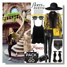 Off to Mexico // 2 Roberto Cavalli, Isabel Marant, Yves Saint Laurent, Ray Bans, Sequins, My Style, Polyvore, Image, Fashion