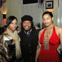 Family night out ... Music Media Management, Maxi Priest & my sister ... #medianet55