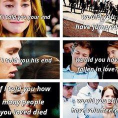 Se te dissessem o seu fim , vc teria pulado ? Se te falassem o fim dele , vc teria se apaixonado?  Se te falassem quantas pessoas que vc amava morreram , vc teria se voluntariado?