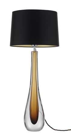 Amber Art Glass Table Lamp, So Beautiful, Sharing Hollywood Luxury Lifestyle Home Decor Inspirations & Gift Ideas Courtesy Of InStyle-Decor.com Beverly Hills Luxe Designer Furniture & Interiors Enjoy & Happy