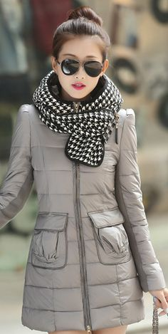 #ElegantCoat, coat with Plaid Hood-Scarf, hood-scarf, YRB coats, korean coat, dark red korean coat, dark red down coat, light purple coat, black korean down coats, asian down coats, korean fashion, coats from korea UK elegant, plaid, yrb0392, women zip, £46.00