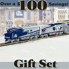 """Dallas Cowboys Express"" Illuminated Electric Train Set"