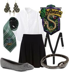 """""""Slytherin"""" by companionclothes ❤ liked on Polyvore"""