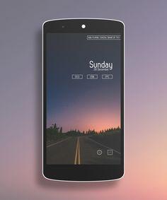 Evenin' Android Homescreen by Solid_Kakadu - MyColorscreen
