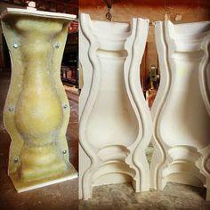Moldes de silicona para balaustres #moldmaking www.alfredobueno-moldes.com Concrete Molds, Concrete Stone, Middle Eastern Art, Porch Columns, Mold Making, Garden Pots, Silicone Molds, Sculpting, Planter Pots