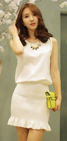 [Luxe Asian Women Dresses Fashion Style Korean Model Fashion Clothing] Good line Dress