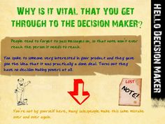How to get through the Decision maker