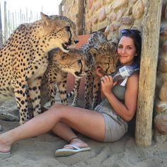 La sueca Lisa Kytösaho, directora del Centro de conservación de guepardos de Western Cape, Suráfrica (Lisa Kytösaho, 2016)