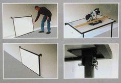 Werkbank klappbar Tisch mit MDF Wand-Klapptisch Metalltisch 200 kg belastbar