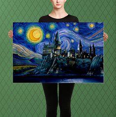 Inspirado en Harry Potter Hogwarts el castillo de Hogwarts Chateau Harry Potter, Harry Potter Fan Art, Harry Potter Canvas, Harry Potter Painting, Harry Potter Drawings, Harry Potter Decor, Harry Potter Hogwarts, Harry Potter Bathroom Ideas, Harry Potter Sketch