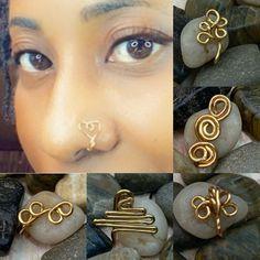 Dreadlock Jewelry, Loc Jewelry, Cute Jewelry, Jewlery, Jewelry Accessories, Nose Piercing Jewelry, Nose Piercings, Peircings, Handmade Wire Jewelry