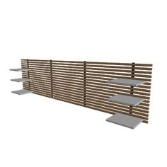 wood slat wall with shelves it 39 s called a mandal shelf. Black Bedroom Furniture Sets. Home Design Ideas