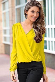 Blusas Long Sleeve Women Blouses Plus Size Women Clothes Vetement Femme Chiffon Blouse Shirt Ladies Tops Camisas Femininas Cocktail Wear, Chiffon Shirt, Lace Chiffon, Chiffon Fabric, Lace Fabric, V Neck Blouse, V Neck Tops, Blouses For Women, Long Sleeve Shirts