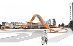 Designing for Tomorrow | impromptu arquitectos + selahattin tuysuz architects : proposal for cycling bridge lisbon