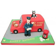 Postman Pat Birthday Cake Postman Pat Cake, Dad Birthday, Birthday Cakes, Novelty Cakes, Cakes For Boys, Creative Kids, Themed Cakes, Beautiful Cakes, Coco