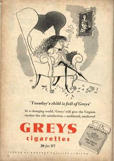 Ronald Searle - Grey's Cigarettes Ronald Searle Cultural Estate ltd http://www.ronaldsearleculturalestate.com/