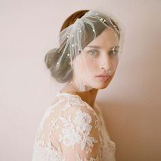 One-tier Vintage Style / Classic Style Wedding Veil Blusher Veils with Faux Pearl / Solid Tulle Headdress, Headpiece, Wedding Events, Wedding Decor, Wedding Veil, Dream Wedding, Wedding Dress, Blusher, Face Hair