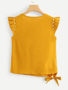 Toddler Fashion, Teen Fashion, Love Fashion, Plus Size Chic, Yellow Clothes, Girls Blouse, Yellow Blouse, Yellow Fashion, Blouse Styles