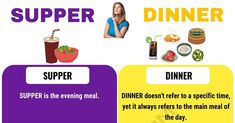 Supper vs Dinner! If somebody tells you that you should come over for supper, what time do you think they expect you to be there? And what if they invite you for dinner? In fact, you cannot be sure if they are talking about the afternoon or the evening meal if they don't specify the time because these two words are often used interchangeably. But is there a difference between a dinner and a supper? SUPPER vs DINNER Supper vs Dinner Meaning DINNER doesn't refer to a specific time, yet it…