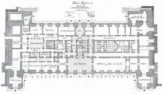 The Devoted Classicist: Palacio de Liria: The Madrid Residence Of The Duchess Of Alba  The Ground Floor Plan, Liria Palace.