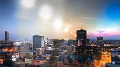 Manchester in a day  was taken from a rooftop location at the wonderful Piccadilly Place (@piccadillyplace) http://www.piccadillyplace.co.uk/ . Music is 'And then...' by Hilliat Fields http://www.hilliatfields.com/Piccadilly Place commissioned a still photographic art work depicting Manchester in a day. The time lapse is the lead through to the art works final state.Andy Marshall is @fotofacade on twitter https://twitter.com/