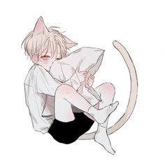 neko Diva Nails diva nails on greenway Anime Cat Boy, Anime In, Neko Boy, Anime Child, Anime Neko, Anime Boys, Manga Anime, Manga Drawing, Manga Art