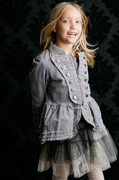 Would love this jacket for Norah!  Might have to take out a loan, but I love the Paper Wings brand for little girls!