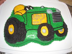 Tractor Birthday Party On Pinterest Tractor Cakes John