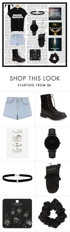 """Imagine dragons"" by cryptics ❤ liked on Polyvore featuring Oris, Timberland, Rock 'N Rose, CLUSE, Amanda Rose Collection, Topshop and Miss Selfridge"