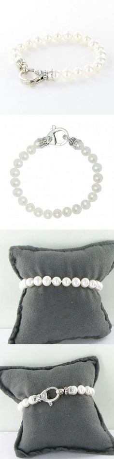 Pearl 164316: Lagos Luna Caviar Pearl 7.5-8Mm Strand Bracelet Sterling Silver New $350 -> BUY IT NOW ONLY: $289.99 on eBay!