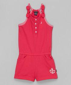 NAUTICA  Magenta Romper - Infant, Toddler & Girls is perfect! #zulilyfinds  $14