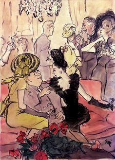 Coquetel, ilustração de 1944, assinada Eric.