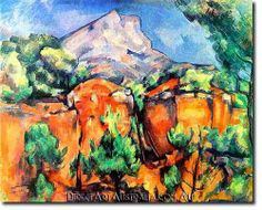 Maine Warmers Sheep love hanging out on this crisp autumn day in Paul Cezanne's painting of Monte Sainte-Victoire Seen from the Bibemus Quarry. 1897 -- The Baltimore Museum of Art Cezanne Art, Paul Cezanne Paintings, Paul Gauguin, Wassily Kandinsky, Monet, Art Africain, Aix En Provence, Oil Painting Reproductions, Henri Matisse