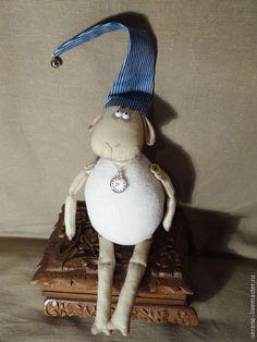 Купить Овечка Рассел - белый, овечка игрушка, овечка Тильда, овечка сувенир, овечка в подарок