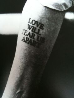 Black And White Joy Division Tattoo