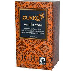 Pukka Herbs, Vanilla Chai, Caffeine Free, 20 Tea Sachets, 1.41 oz (40 g) - iHerb.com