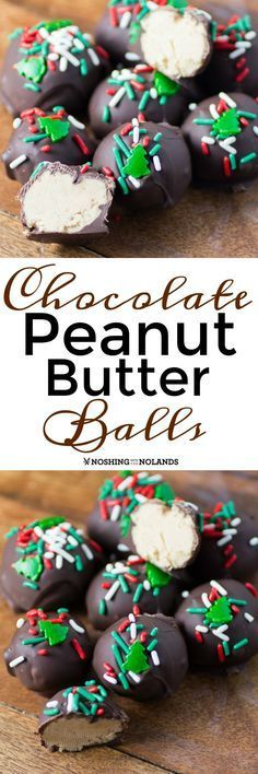 Chocolate Peanut Butter Balls by Noshing With The Nolands are a fun and easy no bake treat  everyone will love for the holidays!