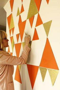 Geometric Photo Wall Covering