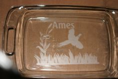 Pheasant Geese Grouse  9X13 Pyrex baking dish with