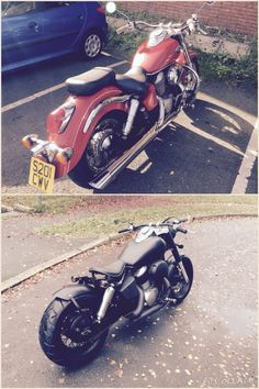 Before and after Honda vt750ace bobber