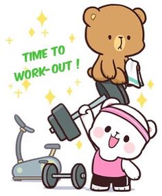 Gyms Tips Losing Weight - Cute Gyms Quotes - - Gyms Routine For Women Cute Cartoon Images, Cute Couple Cartoon, Cute Love Cartoons, Cute Love Gif, Cute Love Pictures, Gif Mignon, Bear Gif, Cony Brown, Cute Bear Drawings