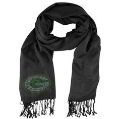 Green Bay Packers Women's Crystal 'G' Pashmina Scarf at the Packers Pro Shop http://www.packersproshop.com/sku/4501367027/