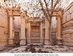 Interior view of Baal Shamin temple. Palmyra,Syria.
