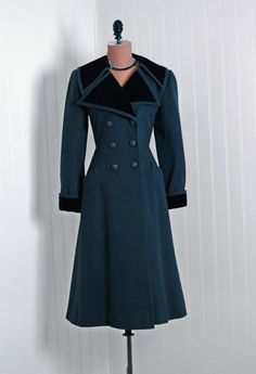 Coat, Yves Saint Laurent, 1970s;   Timeless Vixen Vintage